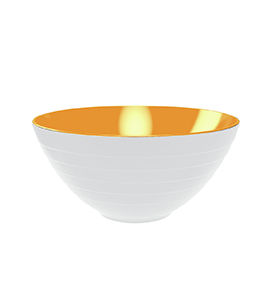 wave 2-tone bowl and salad servers, 2-pc set Ø 28 cm white/coral