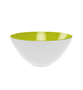 wave 2-tone bowl and salad servers, 2-pc set Ø 28 cm white/green