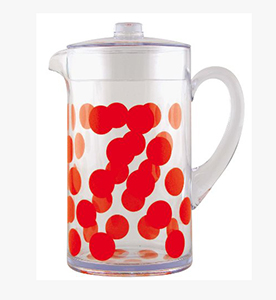 dot dot pitcher 2 lt red dot dot pitcher red 2 lt